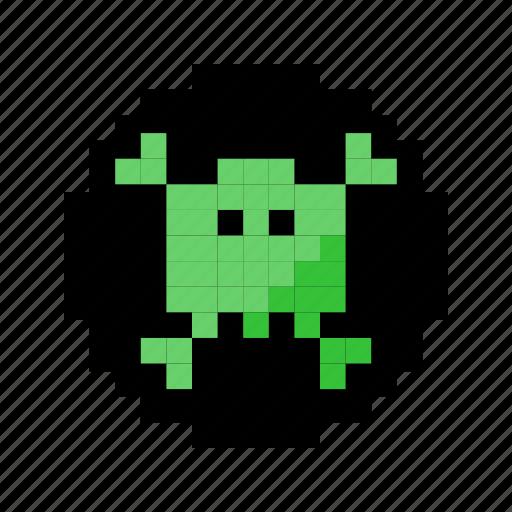 alien, danger, die, monster, poison, skull, warning icon