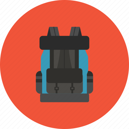 adventure, backpacker, bag, luggage, transportation, travel, vacation icon