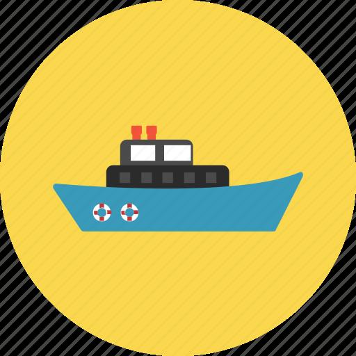 boat, marine, navy, tourist, transportation, travel, vacation icon