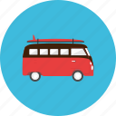 adventure, sea, summer, transportation, travel, vacation, van icon