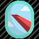 window, transportation, travel, flight, wing, airplane icon