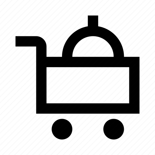 delivery, food, hotel, restaurant, room, service, waiter icon
