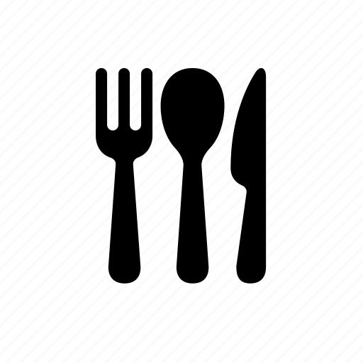 cuisine, dinner, food, fork, knife, restaurant, silverwear, spoon icon