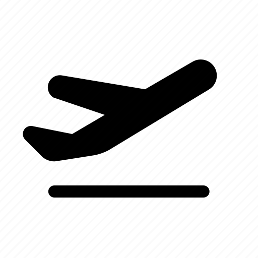 abroad, airplane, fly, takeoff, travel icon