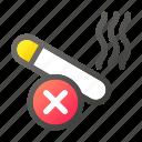 cigarette, no, puro, smoke, smoking, stop icon