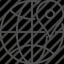 earth, geo tag, geotag, globe, pin, tag icon