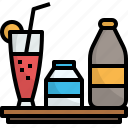 cafe, drink, fresh, juice, milk, water icon
