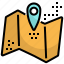 address, direction, location, map, pin, travel icon