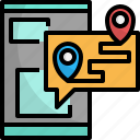 application, booking, map, online, phone, travel icon