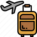 airport, baggage, luggage, plane, travel, vacation icon