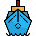 boat, sea, transportation, travel, yacht icon