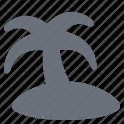 holiday, island, journey, palmtree, pika, simple, travel, vacation icon