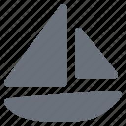 holiday, journey, pika, sailboat, sailing boat, simple, travel, vacation icon
