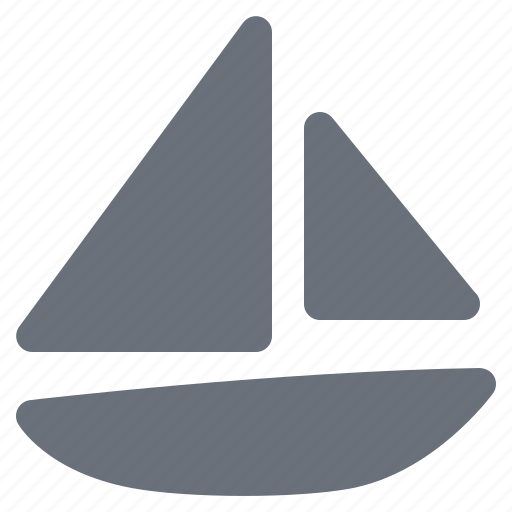 holiday, journey, pika, sailboat, sailing boat, simple, travel, vacation icon