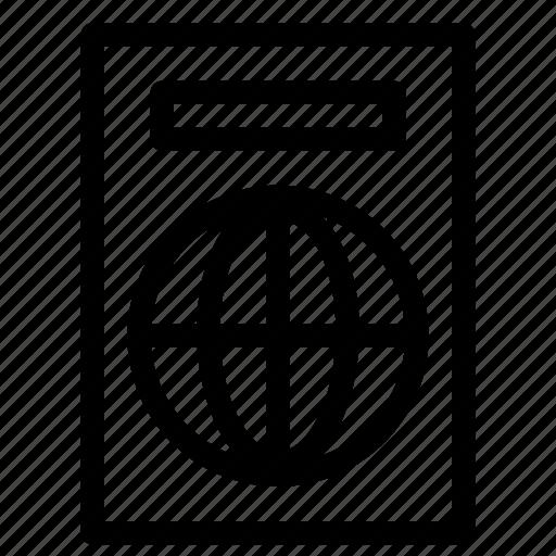 identity, pasport, travling, worldwide icon