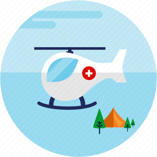 clouds, helicopter, spots, transportation, trres, vacation icon