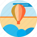 air, balloon, cloud, hot, ride, spots, vacation icon