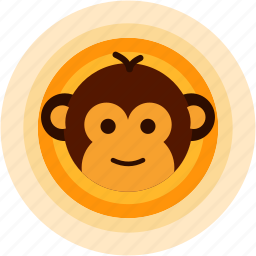 adorable, cute, monkey, smile, spots, vacation icon