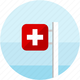 flag, plus, pole, sign, spots, switzerland, vacation icon