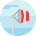 cloud, director, pole, spots, vacation, wind icon