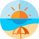beach, parasol, sea, spots, sun, vacation