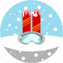 googles, ski, skiing, snow, spots, vacation icon