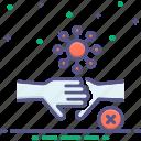 vaccine, no, hand, shake, touch, prohibited, coronavirus