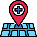 location, map, pin, navigation, gps, hospital, healthcare