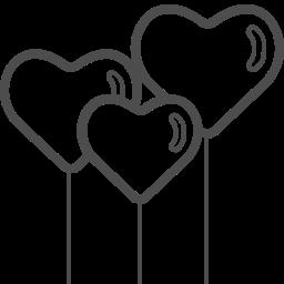 balloons, heart, love, romantic, valenticons, valentine, valentines icon