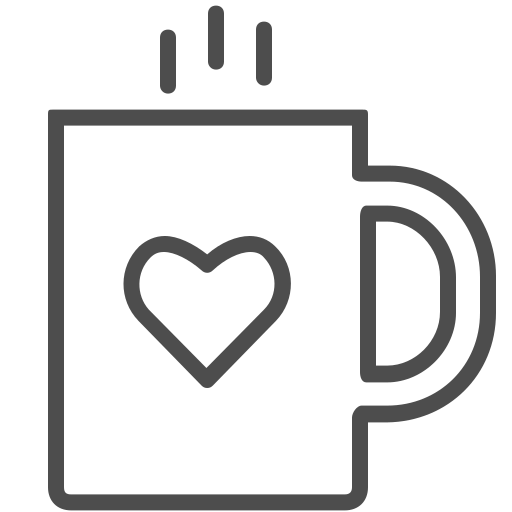 coffee, cup, drink, hot, mug, valenticons, valentine, warm icon