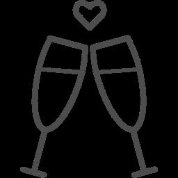 alcohol, champagne, glass, toast, valenticons, valentine, valentines, wine icon