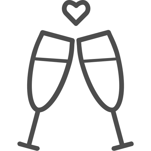 alcohol, champagne, glass, toast, valenticons, valentine, valentines, wine icon