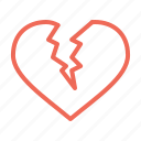break, broken, day, heart, love, up, valentine icon