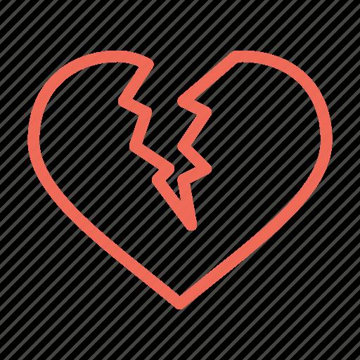 break, broken, day, heart, love, up, valentine icon