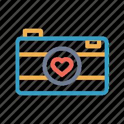 camera, image, love, photo, picture, romantic, valentine day icon
