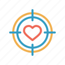 aim, archer, dart, game, love, romantic, valentine icon