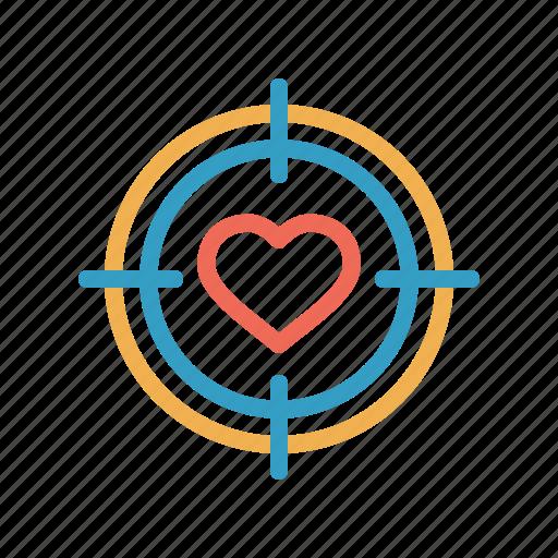 aim, archer, dart, game, love, romantic, valentine icon