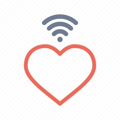 heart, love, romantic, signal, valentine, wifi, wireless icon