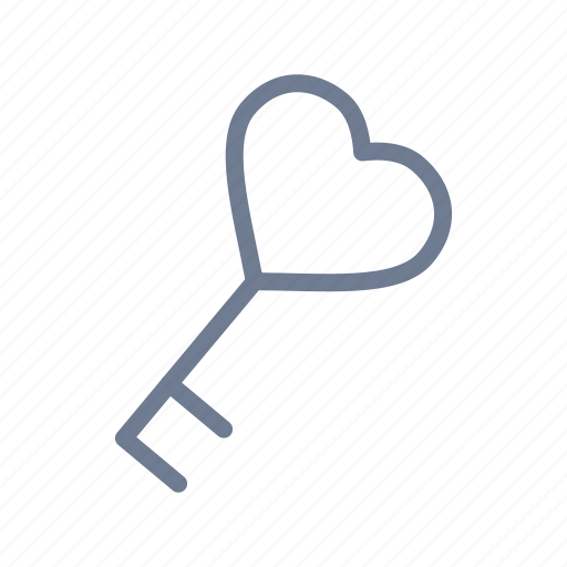 heart, key, love, relationship, romantic, unlock, valentine icon