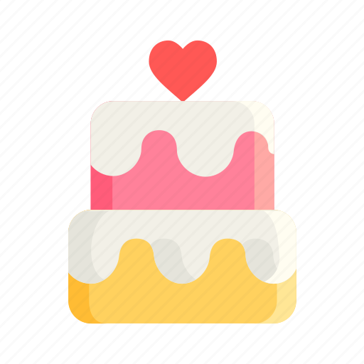 birthday, cake, dessert, happy, heart, love, romantic icon