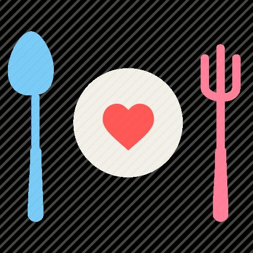 date, day, dinner, love, romantic, snacks, valentine icon