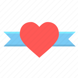 day, gift, heart, love, ribbin, romantic, valentine icon