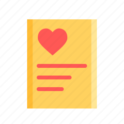 day, heart, letter, love, poem, romantic, valentine icon