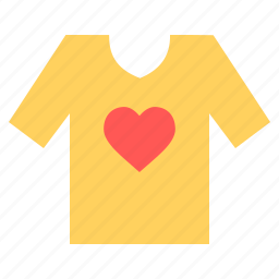 day, heart, love, romantic, tshirt, valentine, valentines icon