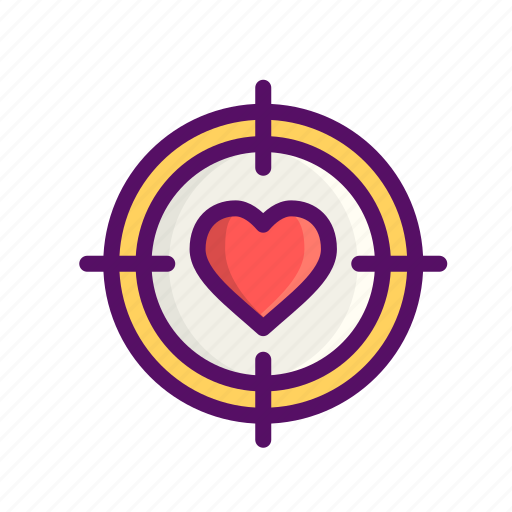 aim, dart, day, game, love, romantic, valentine icon