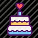 cake, day, dessert, heart, love, romantic, valentine