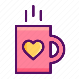 coffee, cup, day, love, mug, romantic, valentine icon