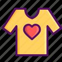day, heart, love, romantic, tshirt, valentine, valentines icon