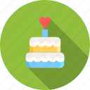 cake, day, dessert, heart, love, romantic, valentine icon