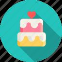 cake, day, dessert, heart, love, romantic, valentine icon